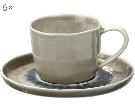Tasse mit Untertasse Porcelino Sea, 6 Stück