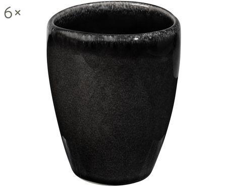 Handgemachte Becher Nordic Coal, 6 Stück