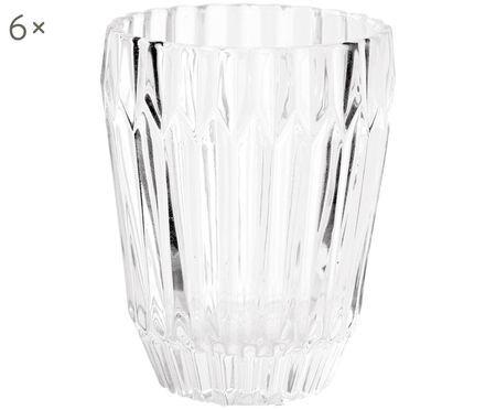 Set di 6 bicchieri per l'acqua Deco