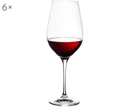 Kristallen rode wijnglazen Harmony, 6 stuks
