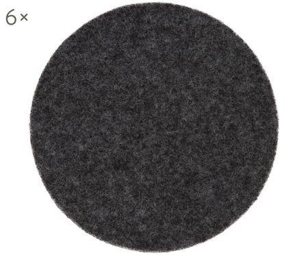 Sottobicchiere in feltro di lana Leandra, 6 pz.