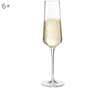 Flûtes à champagne résistantes Puccini, 6pièces