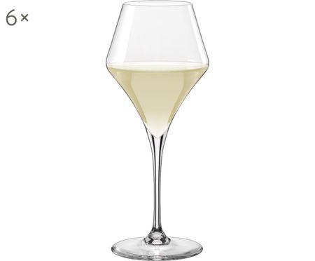 Bolvormige witte wijnglazen Aram, 6-delig
