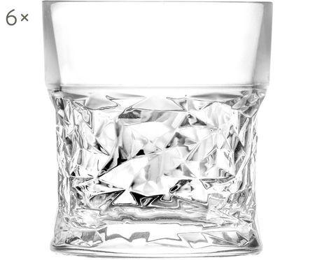 Verres à whisky en cristal à motifs géométriques embossésBicchiero, 6pièces