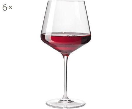 Rode wijnglazen Puccini, 6 stuks
