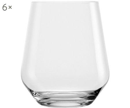 Verres à eau en cristal Revolution, 6 pièces