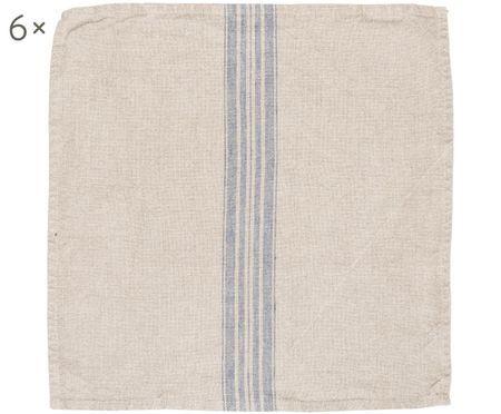 Serviettes de table en lin Jara, 6 pièces
