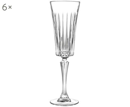 Flute champagne in cristallo  Timeless 6 pz