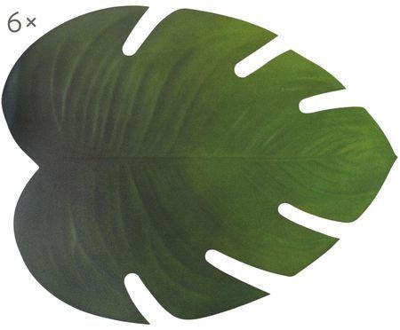 Kunststoff Tischsets Jungle in Blattform, 6 Stück
