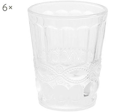 Bicchiere acqua con rilievo Nobilis 6 pz