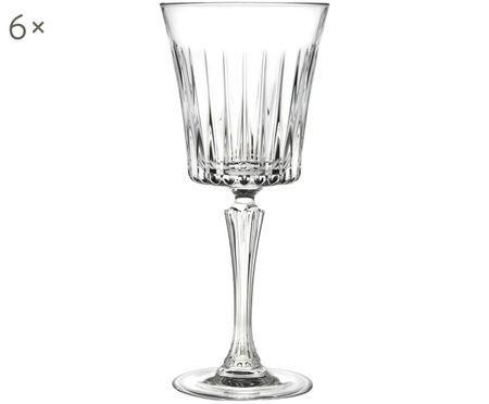 Kristall-Rotweingläser Timeless mit Rillenstruktur, 6er-Set