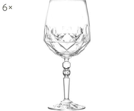 Kristallen witte wijnglazen Calicia, 6 stuks