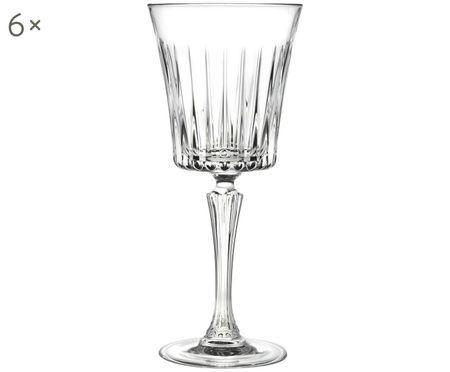 Kristall-Weißweingläser Timeless mit Rillenrelief, 6er-Set
