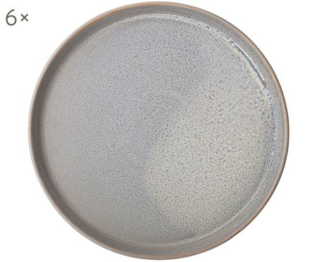 Handgefertigte Frühstücksteller Kendra, 6 Stück