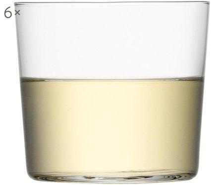 Bicchiere acqua in vetro sottile Gio 6 pz