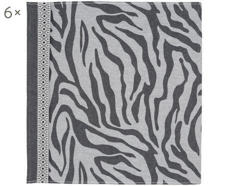 Canovaccio con motivo a zebra Africa, 6 pz.