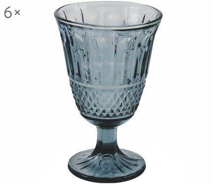 Wijnglazenset Elegance in blauw, 6-delig