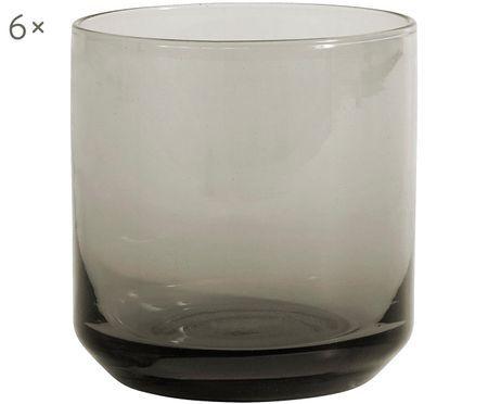 Szklanka do wody ze szkła dmuchanego Retro, 6 szt.
