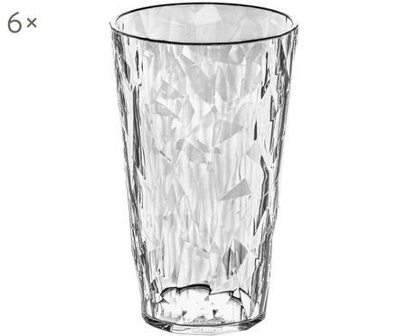 Kunststoff-Wassergläser Club, 6 Stück