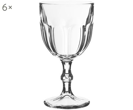 Bicchiere da vino con rilievo Lousanne 6 pz