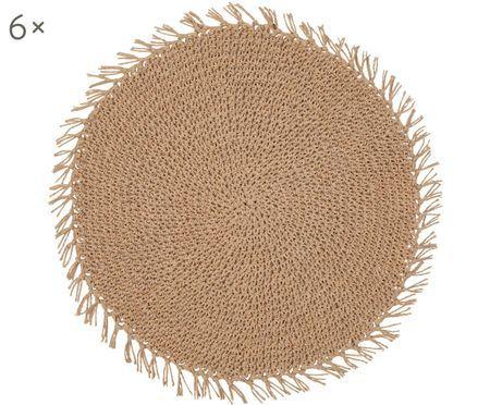 Sets de table ronds en fibres Tressine, 6pièces