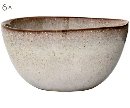 Ručne vyrobená miska Sandrine, 6 ks