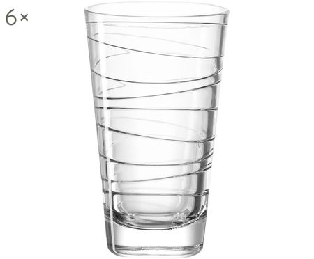 Wassergläser Vario mit feinen Linien, 6er-Set
