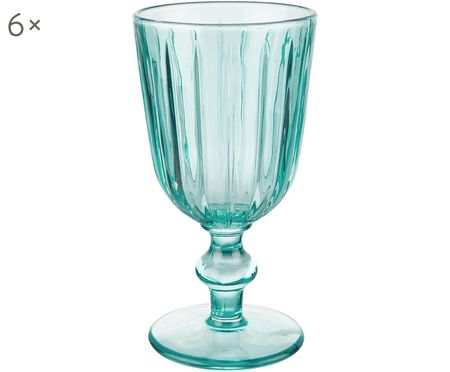 Weingläser Colori im Landhausstil in Blau, 6er-Set