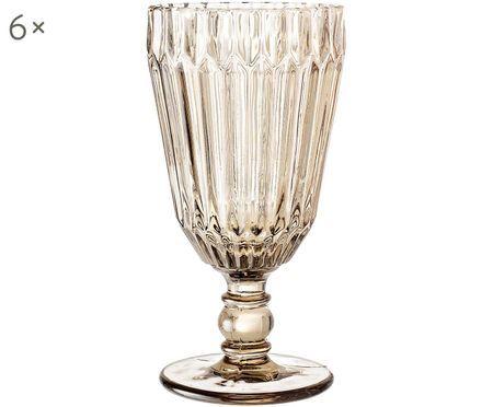 Bicchiere da vino con rilievo Structure 6 pz