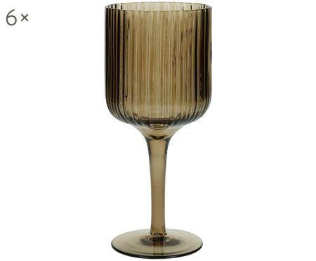 Wijnglazen Canise met groefstructuur, 6er-set