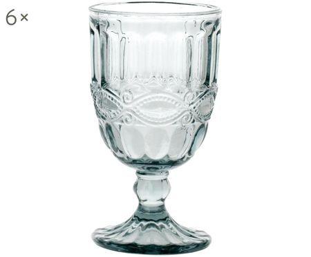 Weingläser Solange mit dekorativem Reliefmuster, 6er-Set