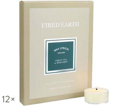 Podgrzewacz zapachowy Fired Earth, 12 szt. (zielona herbata & bergamotka)