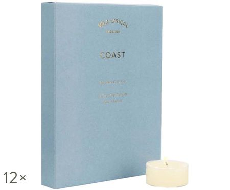 Bougies chauffe-plats parfumées Coast, 12 pièces