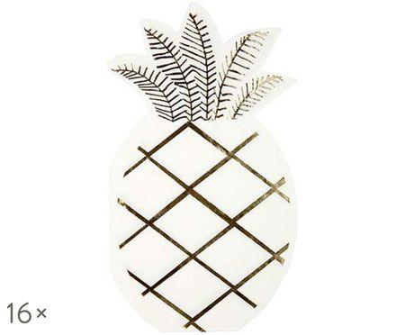 Papierservietten Pineapple, 16 Stück