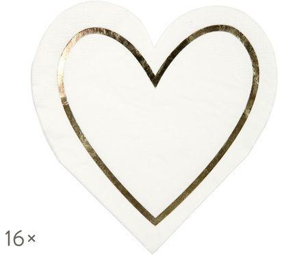 Tovaglioli di carta Heart, 16 pz.