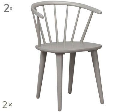 Krzesło z podłokietnikami z drewna naturalnego Windsor Carmen, 2 szt.