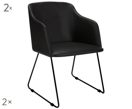 Krzesło z podłokietnikami Casablanca, 2 szt.