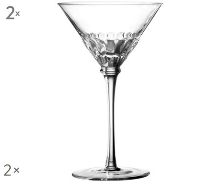 Mondgeblazen Martini-glazen Solar, 2 stuks