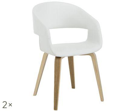 Chaises à accoudoirs en cuir synthétique Nova, 2pièces