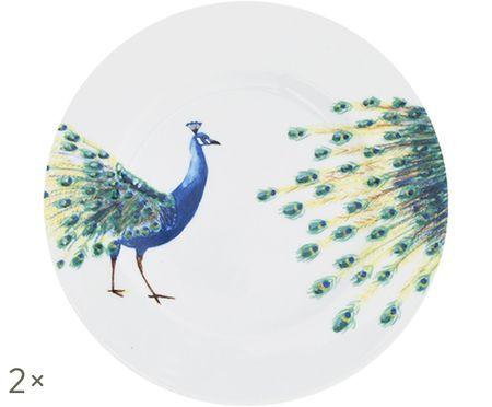 Piatto da colazione Peacock, 2 pz.