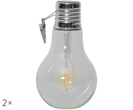 Solar LED lichtobjecten Fille, 2 stuks