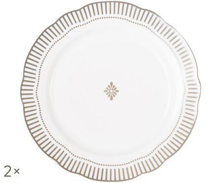Assiettes plates Copenhagen, 2pièces