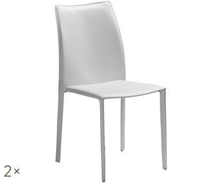 Leren stoelen Soléne, 2stuks