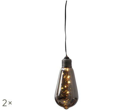 Lampadina decorativa Glow con timer, 2pz.