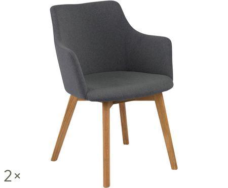 Krzesło z podłokietnikami Bella, 2 szt.