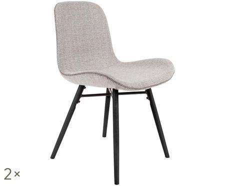 Krzesło tapicerowane Lester, 2 szt.