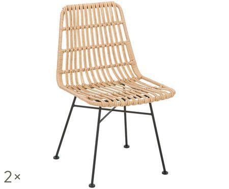 Polyratanová stolička Tulum, 2 ks