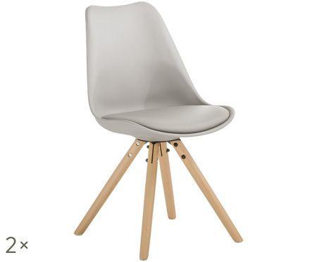 Stolička so sedacou plochou z umelej kože Max, 2 ks