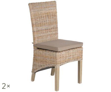 Ratanová stolička Kubu, 2 ks