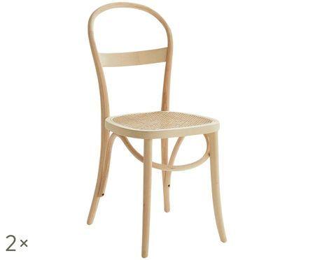 Chaises en bois Rippats, 2pièces